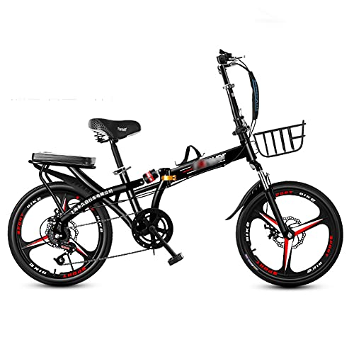 Bicicleta Plegable para Adultos, 20 pulgadas, Bicicleta de montaña prémium para niños, niñas, hombres y mujeres, Bicicleta de montaña portátil ultraligera/B / 20inch