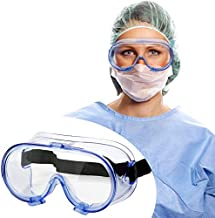 Safety Goggles FDA Registered, Z87.1 Safety Glasses Eye Protection-Medical Goggles Fit Over Eyeglasses-Unisex Ultra Clear Protective Glasses Protective Eyewear-Lab Goggles Medical Protection