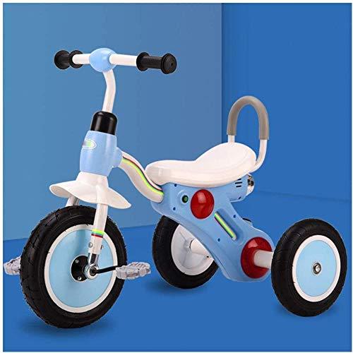 Bicicleta de entrenamiento de bebé bicicleta de equilibrio para bebé y niño pequeño triciclo para niños de 2 a 6 años de edad, niñas y niños pequeños - azul