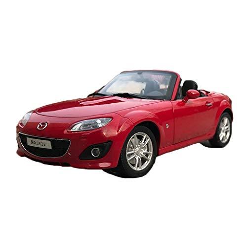 KKD Escala Modelo Simulación Vehículo 1:18 Mazda MX5 MAZDA MX-5 Aleación de simulación para adultos Tire hacia atrás Modelo de colección de juguetes (Color : Red)