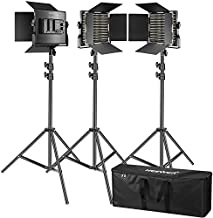 Neewer 3 Packs 660 LED Video Light Photography Lighting Kit with Stand: Dimmable 3200-5600K CRI96+ LED Panel, Premium 200cm Light Stand for Studio YouTube Video Outdoor Shooting