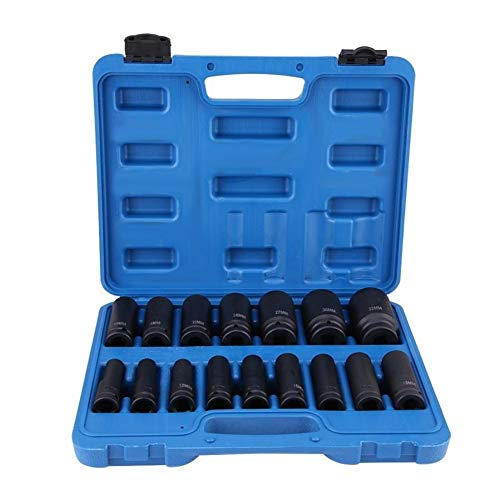 16Pcs 1/2' Inch Driver Air Hex Bit Socket Set Repair Tool Kit 10MM-32MM is Very Suitable for Family use. Small Size (Color : 01)