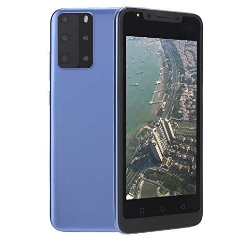 Dpofirs Teléfono Celular 3G Desbloqueado P48, 5.0in HD, Pantalla Completa, Doble Tarjeta, teléfono Inteligente de Doble Modo de Espera para Android 6.1, 512 MB + 4 GB(Azul)