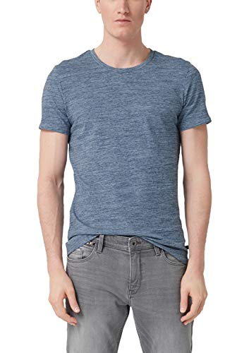 Q/S designed by - s.Oliver Herren 44.899.32.5401 T-Shirt, Blau (Light Ink Blue 56w0), XXL