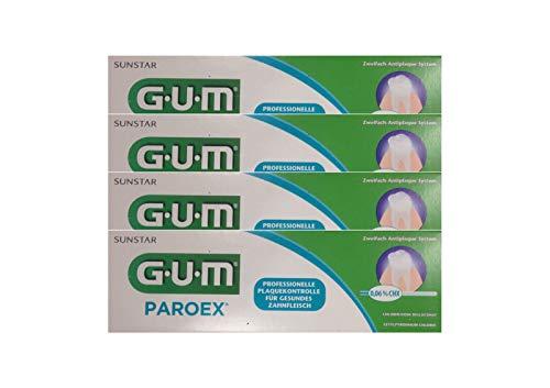 4x GUM Paroex Chlorhexidin Gel Zahnpasta 0.12% 75ml PZN 00024012