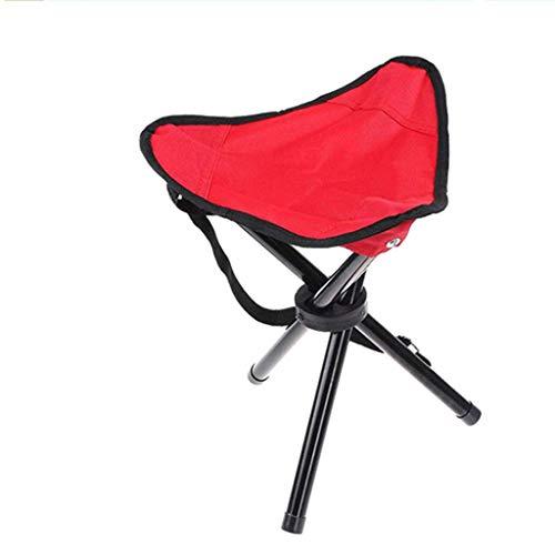 LUNAH Großer Dreibeiniger Hocker Angelhocker Outdoor Tragbarer Klapphocker Angelhocker Kleine Bank Mazar (Farbe: Rot)