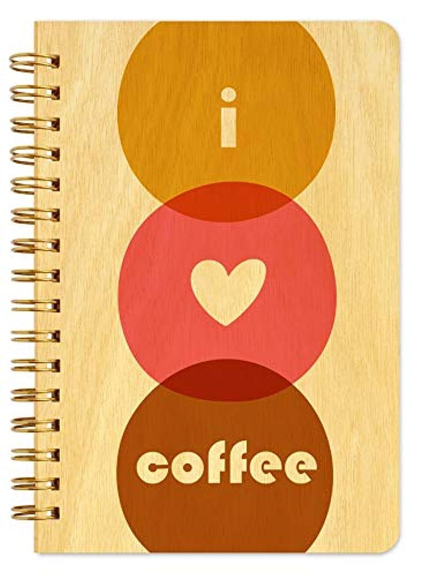 Night Owl Paper Goods J1768 Love Coffee Spiral Notebook, Birch