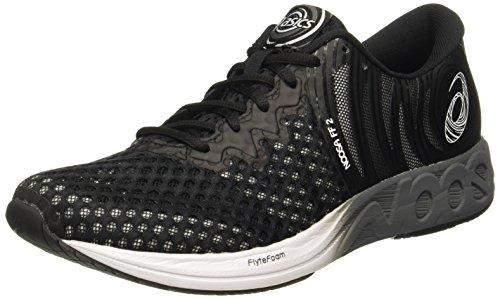 Asics Noosa Ff 2, Zapatillas de Running para Hombre, Negro (Black/White/Carbon 9001), 42 EU