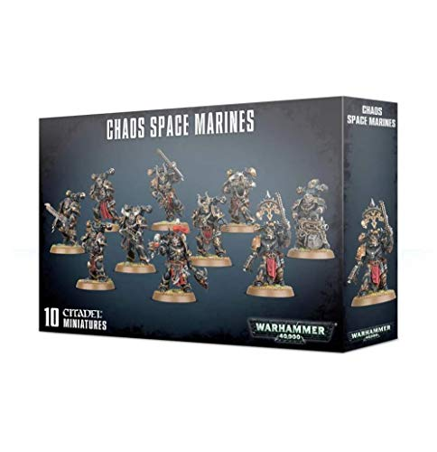 Games Workshop Warhammer 40k - Space Marine du Chaos Squad (2019), Multi-Colored