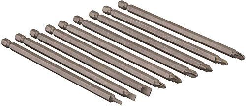 "Bits extra lang 150mm Schraubendreher Bit Set 9 tlg. Schlitz, Kreuz Ph/PZ CR-V 1/4"" sechskant Schaft"