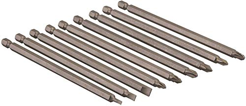 Bits extra lang 150mm Schraubendreher Bit Set 9 tlg. Schlitz, Kreuz Ph/PZ CR-V 1/4
