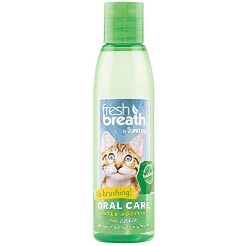 Fresh Breath by TropiClean Oral Care Water Additive for Cats, 8oz - Made in USA