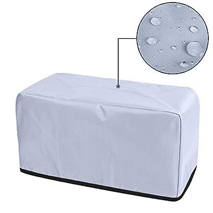 Luxja-Toaster-Abdeckung-fuer-4-Scheiben-Langschlitz-Toaster-394-x-191-x-203-cm-Toaster-Abdeckung-mit-2-Taschen-passend-fuer-die-meisten-4-Scheiben-Toaster-schwarz