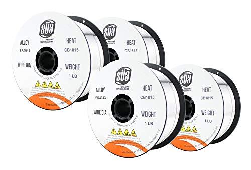 "ER4043- MIG Aluminum Welding Wire - 1 Lb x 0.035"" (4 SPOOLS)"