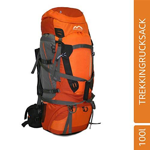 MONTIS Nadel 80+20 Trekking-Rucksack, Wander-Rucksack & Reise-Rucksack in einem, ermöglicht Dank Regenschutz auch Kletter- & Campingtouren, im Militär-Rucksack Look mit viel Extras & Belüftungssystem