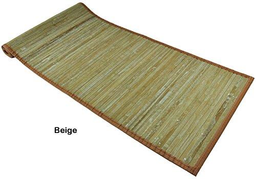 CASA TESSILE Bambou lavé Lane Polyvalents pour Tapis - Beige, 55x230 cm.