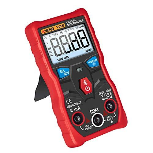 POHOVE Digitaler Isolationswiderstandstester, Multimeter, Bluetooth, kabellos, App-Steuerung, ABS, Handtester, Spannungsprüfer, Strom, Widerstand, Kontinuität, Testen von Dioden, Temperatur