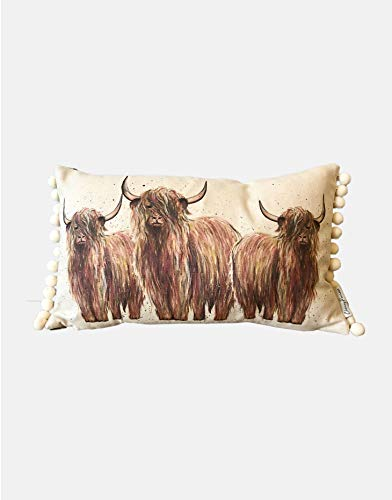Rettangolo Highland Mucca Design Cuscino