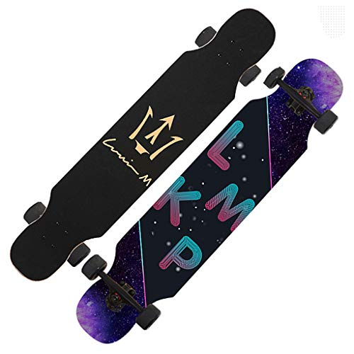 Sale!! LLH-MOTION Freestyle Longboard 8-Layer Maple Beginners Longboard Skateboard 42x 9.8 inch Adul...