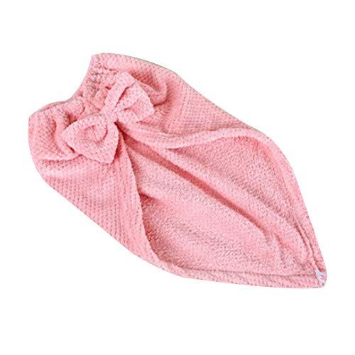 ShinyAmber Bonnets en Microfibre Séchage des Cheveux Super Absorbants Turban à Séchages Rapide Bow Fermeture à Boucle de Bain Cheveux Secs Enveloppé (