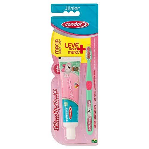 Kit Infantil de Higiene Oral Lilica Ripilica com Escova + Gel Dental Leve Mais Pague Menos, Condor