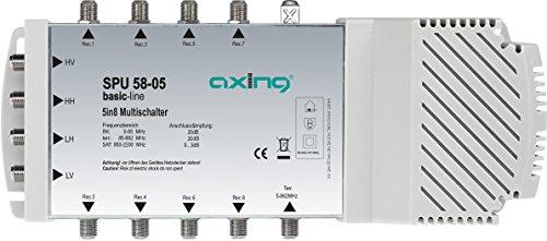 Axing SPU 58-05 Multischalter 5 in 8, SAT aktiv, Quad-tauglich (Schaltnetzteil)