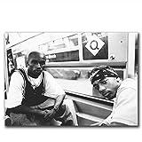 TanjunArt Mobb Deep Rap Music Group Singer Hotin Fabric Pintura de Lienzo Póster Impresiones Arte de la Pared del hogar Sala de Estar Decoración del hogar -50x70cm Sin Marco