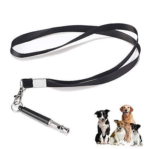 DESON Fischietto per Cani con Cordino, Fischietto per Cani ad ultrasuoni per Addestramento Cani e Il Controllo delle Abbaiare