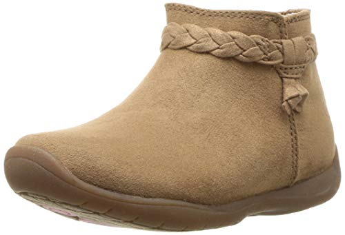 Stride Rite Girls' Finley Ankle Boot, Brown, 10 M US Toddler