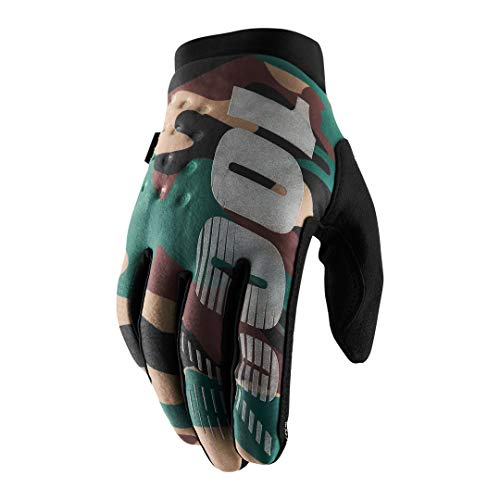 100% Brisker 100% Glove Guantes, Unisex Adulto, Camo/Black, SM