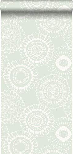 Tapete Blumen Mintgrün - 128861 - von ESTAhome.nl