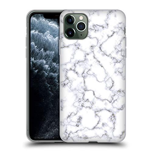 Head Case Designs Oficial Martina Illustration Mármol Blanco Patrones Carcasa de Gel de Silicona Compatible con Apple iPhone 11 Pro MAX