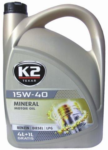 15w40 Motoröl Öl 5 Liter mineral ACEA A3/B3/B4, API SL/CF
