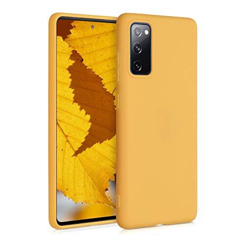 kwmobile Hülle kompatibel mit Samsung Galaxy S20 FE - Hülle Silikon - Soft Handyhülle - Handy Hülle in Honiggelb