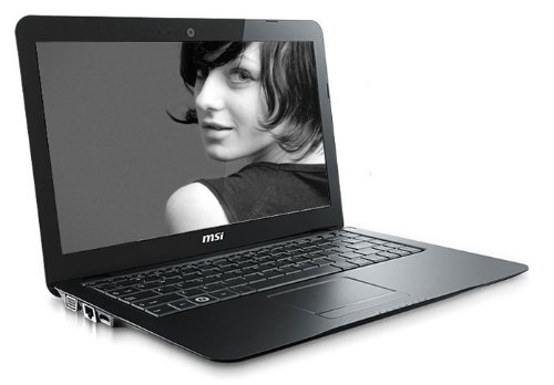 MSI X320-032UK 13 inch Laptop (TFT Intel Atom Z530 1.6GHz, 2GB, 250GB, LAN, WLAN, Vista Home Premium) - Black
