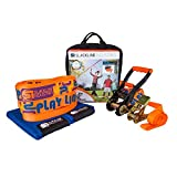 Slackline Industries 50 Foot Introduction Teaching Training Play Line with Help Line for Beginners