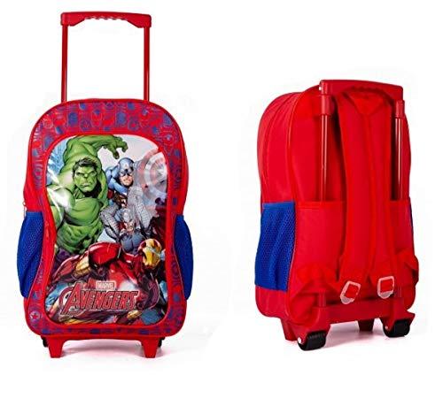 Boys Marvel Deluxe Trolley Backpack Cabin Bag Kids Girls Suitcase