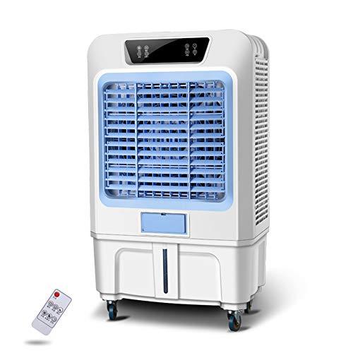 500/750W Aire Acondicionado Móvil, Enfriador de Aire Portátil con Cristal de Hielo y Control Remoto, Climatizador Evaporativo Silencioso de Bajo Consumo de Energía con Humidificación ,30000 air volume