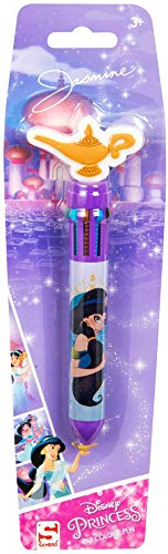 Disney Princess Aladdin Jasmine 10 In 1 Multicolour Ballpoint Pen