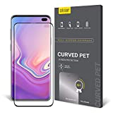 Olixar for Samsung Galaxy S10 Plus Screen Protector - Curved PET Film Protection - Case Friendly - Fingerprint Scanner Friendly - Easy Application Card and Cleaning Cloth Included - 2 Pack