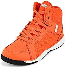 Zumba Energy Boom Comfy High Top Gym Shoes Dance Fitness Workout Shoes for Women, Orange, 5