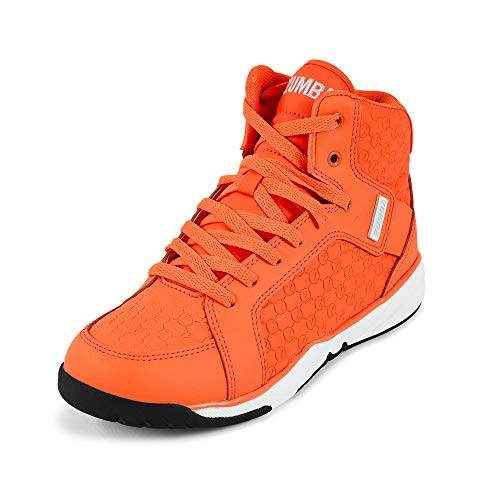 Zumba Aktiv Energy Boom High Top Sneakers Tanztraining Workout Tanzschuhe Damen, Orange, 41 EU