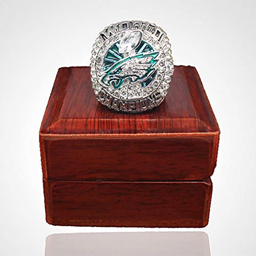 Ringe des Charms, Super Bowl American Football-Fans Rugby-Meisterschaft Replik-Ring Philadelphia 2018 Eagles World League Ring 9#