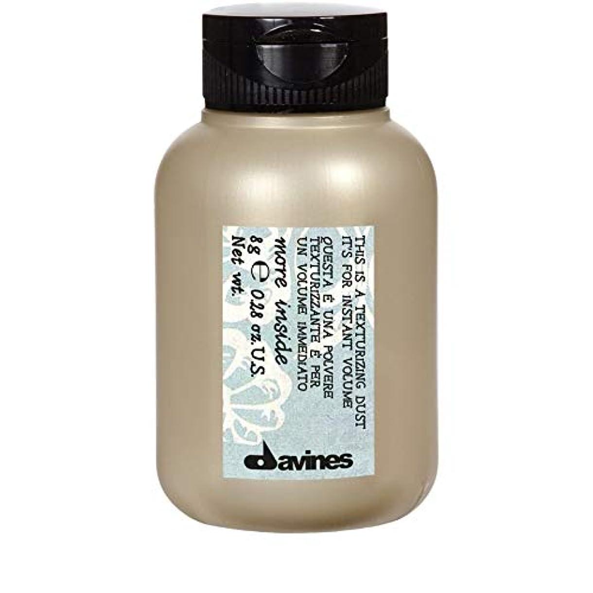 モルヒネパッケージ示す[Davines ] ダヴィネステクスチャーダスト8ミリリットル - Davines Texturising Dust 8ml [並行輸入品]