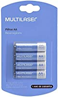 Pilhas Recarregáveis AA Multilaser 2500Mah Com 4 Unidades - CB052, Multicor