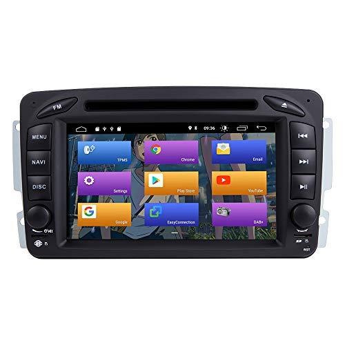 BOOYES para Mercedes Benz A-W168 C-W203 Android 10.0 Radio de Coche Sistema GPS estéreo 7