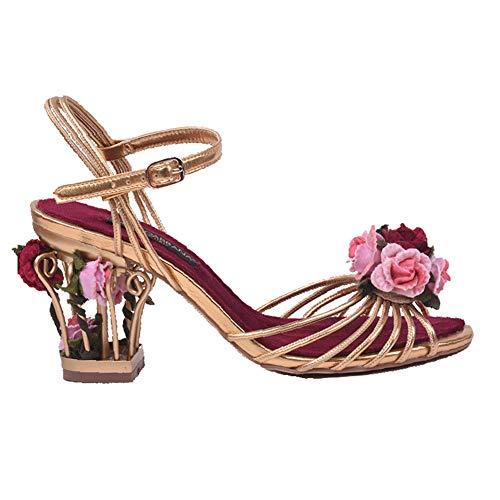 Damesschoenen met veters, sandalen met enkelbandjes en hoge hakken voor dames,39