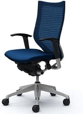 オカムラ オフィスチェア バロン ハイバック 可動肘 座クッション デスクチェア ミディアムブルー CP85DR-FEF4