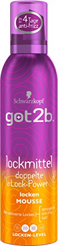 Schwarzkopf Got2b Lockmittel Locken Mousse, 3er Pack (3 x 250 ml)