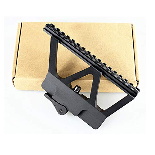 FIRECLUB Tactical CNC Picatinny CNC Side Scope Mount 20mm Weaver Black Quick Detachable